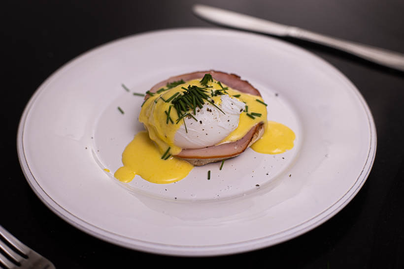 Eggs benedict made with this recipe