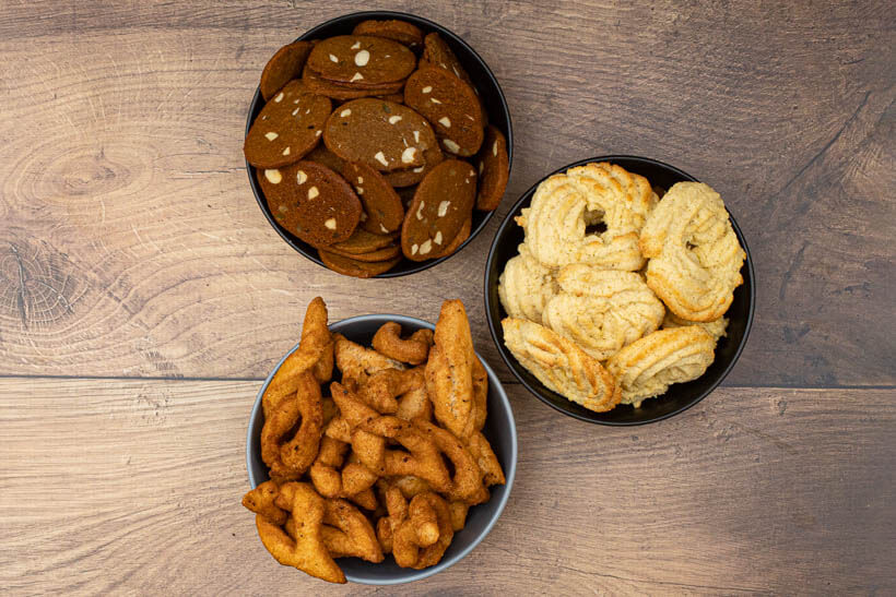 The three most popular Danish Christmas cookies made with these recipes