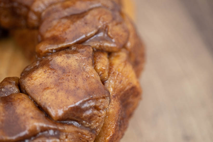 closeup of monkey bread