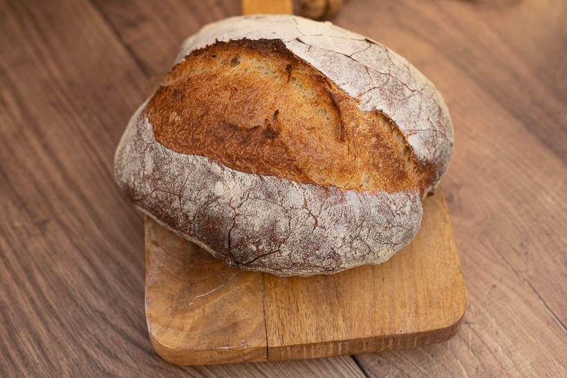Great oven spring in this artisan bread